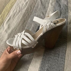 White Guess shoes